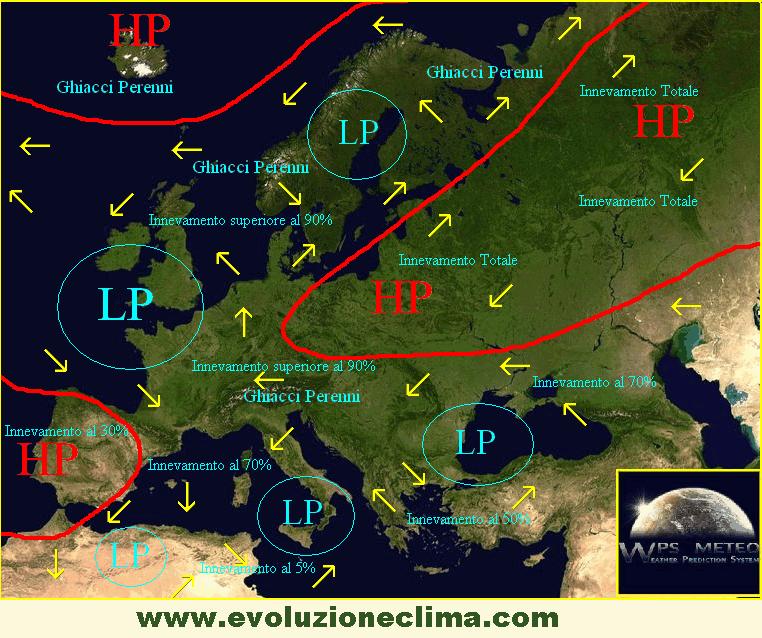 Configurazione barica inverno 2010-2040